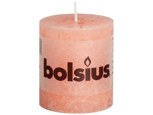 Kerze Bolsius Rustic sanftes Rosa Ø 10 cm x 10 cm
