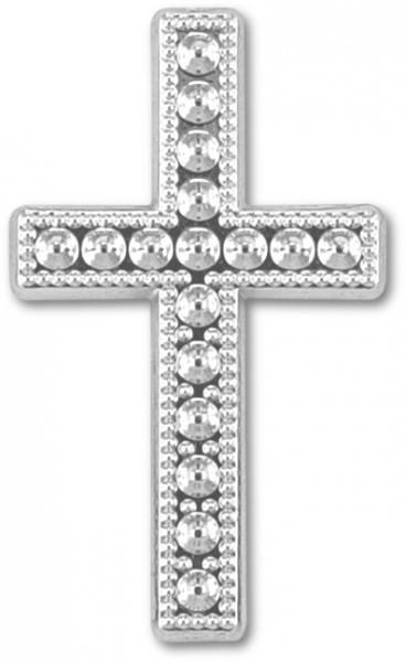 Partytischdecke.de | Deko-Kreuz silber Größe 30x12 15 Stück