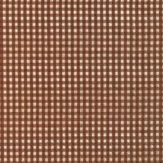 Partytischdecke.de | Servietten 33x33 Vichy brown 20 Stück