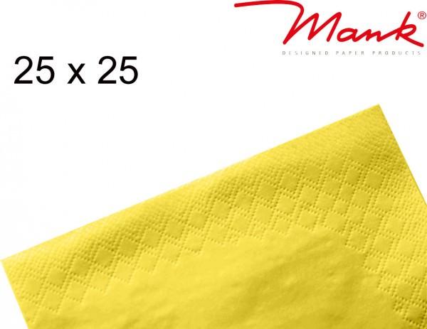 Partytischdecke.de | Serviette Mank 25x25 Tissue gelb