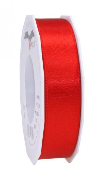 Partytischdecke.de | Satin Band 25 mm x 25 m rot 1 Rolle