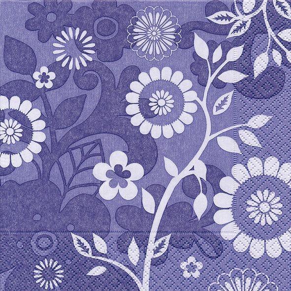 Partytischdecke.de | Servietten 33x33 Avignon lavande 20 Stück lila