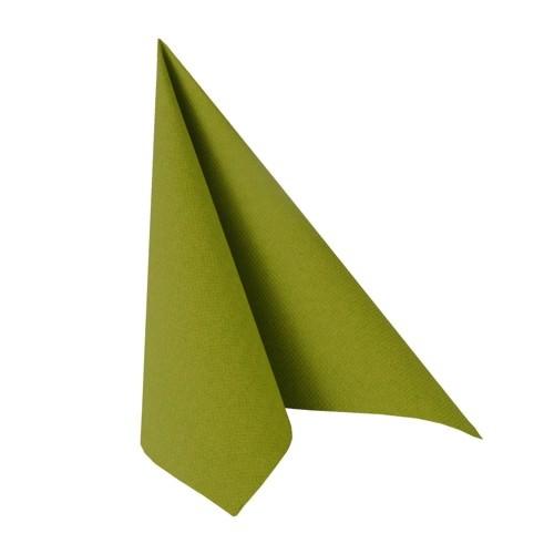Partytischdecke.de | Serviette 40x40 Royal olivegrün 50 Stück