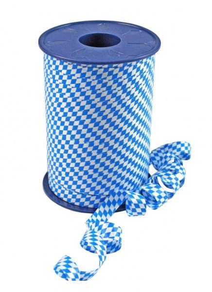 Partytischdecke.de | Band BAVARIA weiss-blau 10-mm x 250-m-Spule