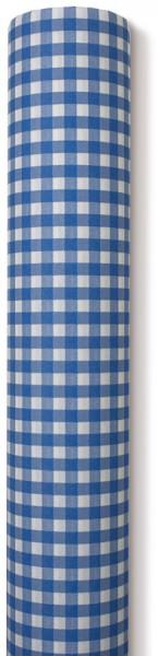Partytischdecke.de | Tischdecke Airlaid 0,8 x 25 m karo blau 1 Rolle