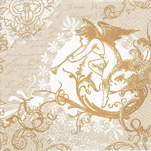 Partytischdecke.de | Servietten 33x33 Classic angel gold 20 Stück