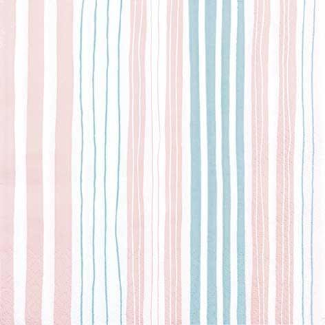 Partytischdecke.de | Servietten 33x33 Striped nude