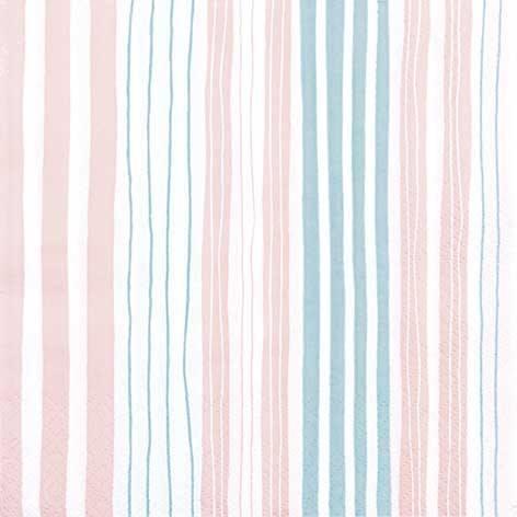 Partytischdecke.de | Servietten 25x25 Striped nude