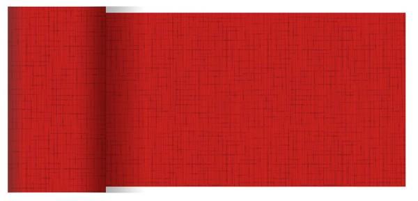 Partytischdecke.de | Tischläufer 15 cm x 20 m Dunicel Linnea rot