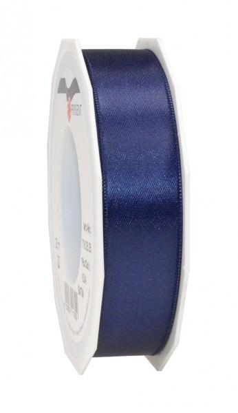 Partytischdecke.de   Satin Premium Band 25 mm x 25 m dunkelblau