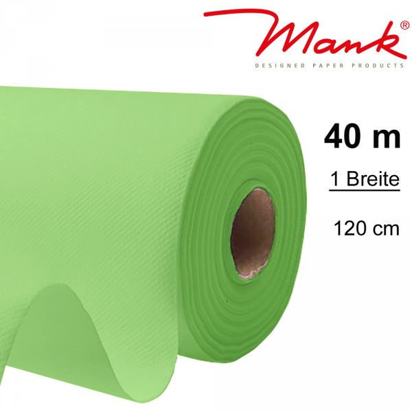 Partytischdecke.de | Tischdecke Mank Linclass 1,20 x 40 m apfelgrün