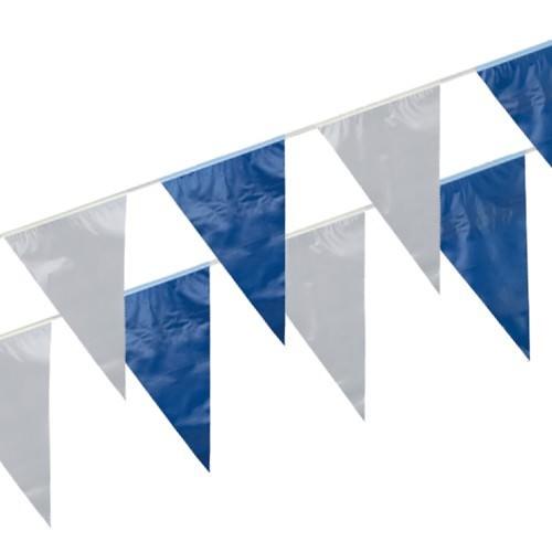 Partytischdecke.de | Wimpelkette 10 m blau-weiss 1 Stück