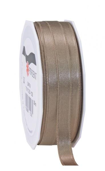 Partytischdecke.de | Satin Premium Band 10 mm x 25 m greige