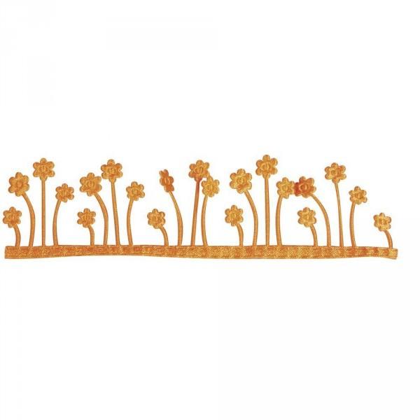 Partytischdecke.de   Dekoband Blumenwiese, selbstklebend orange 4 cm x 2 m Rolle