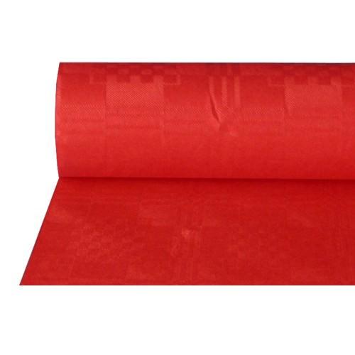 Partytischdecke.de | Papiertischdecke Damastprägung 1 m x 50 m rot
