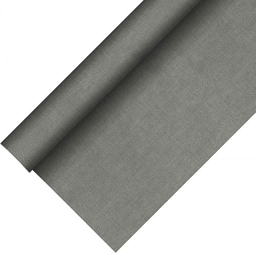 Partytischdecke.de | Tischdecke bio 1,18 x 20 m Royal-Collection-Plus grau 1 Rolle