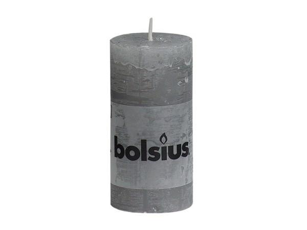 Partytischdecke.de | Kerze Bolsius Rustic Ø5x10 Hellgrau