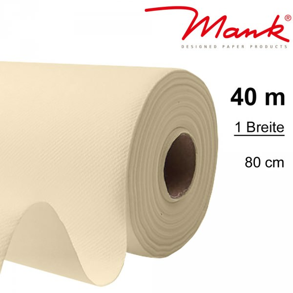 Partytischdecke.de | Tischdecke Mank Linclass 0,80 x 40 m creme