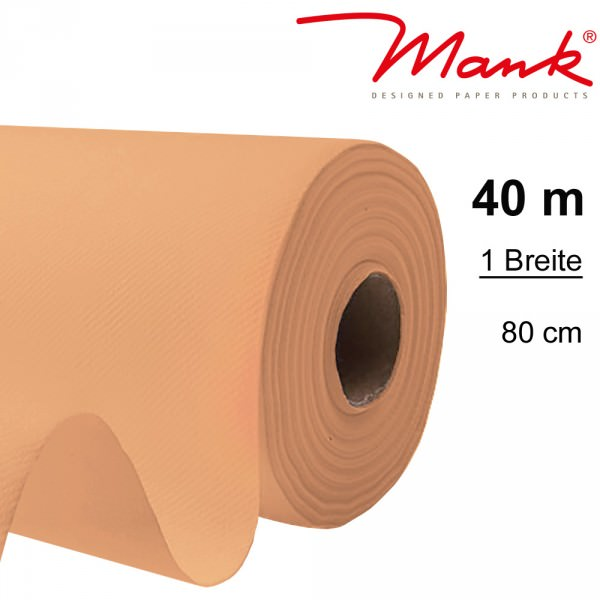 Partytischdecke.de | Tischdecke Mank Linclass 0,80 x 40 m apricot