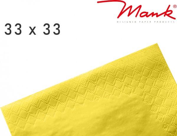Partytischdecke.de | Serviette Mank 33x33 Tissue gelb