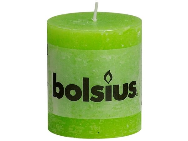 Kerze Bolsius Rustic Ø 6,8 x 8 cm lemon