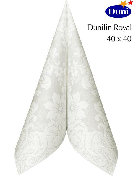 Partytischdecke.de | Serviette Duni Dunilin 40x40 Royal white 60 Stück