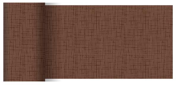 Partytischdecke.de | Tischläufer 15 cm x 20 m Dunicel Linnea chestnut