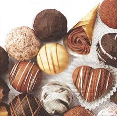 Partytischdecke.de | Servietten 33x33 Petits Chocolats 20 Stück
