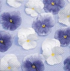 Partytischdecke.de | Servietten 33x33 White & Purple 20 Stück