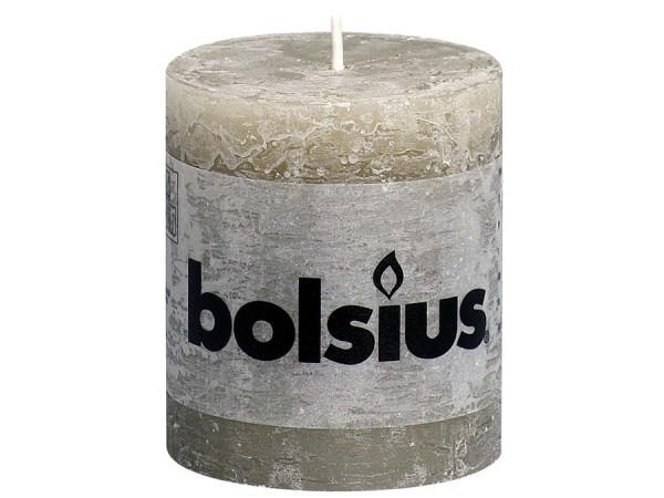 Kerze Bolsius Rustic Ø 6,8 x 8 cm kieselgrau