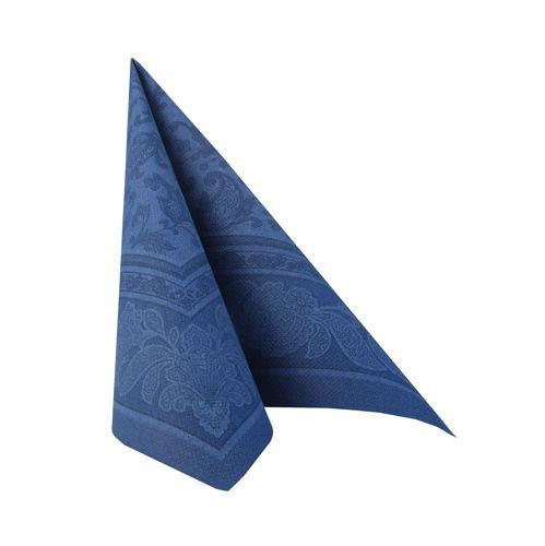 Partytischdecke.de | 50 Servietten 40x40 Royal dunkelblau ornament