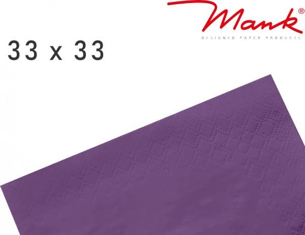 Partytischdecke.de | Serviette Mank 33x33 Tissue aubergine
