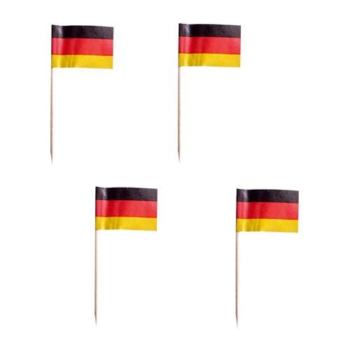 Partytischdecke.de | Deko-Picker 8 cm Deutschland 200 Stk