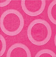 Partytischdecke.de | Servietten 33x33 Circle pink 20 Stück