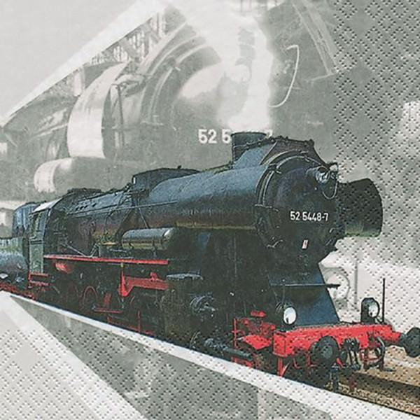 Partytischdecke.de | Servietten 33x33 Lokomotive