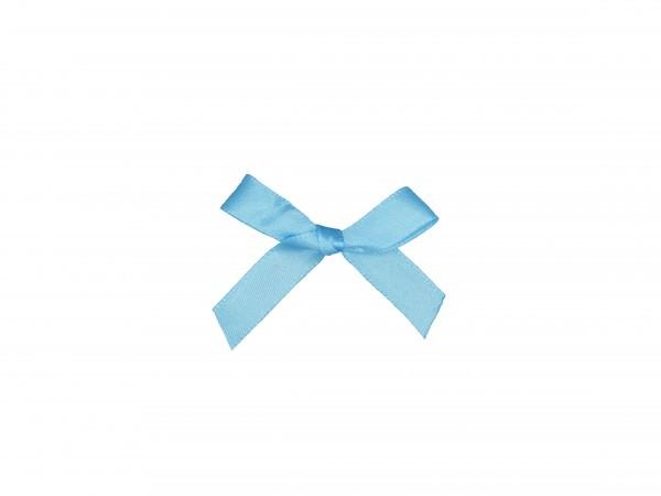 Partytischdecke.de | Satinschleifen mit Klebepad 5 cm x 3,5 cm hellblau