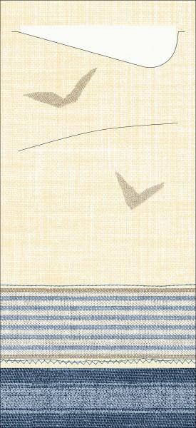 Partytischdecke.de | Duni Sacchetto Tissue 8,5x9 cm Seaway