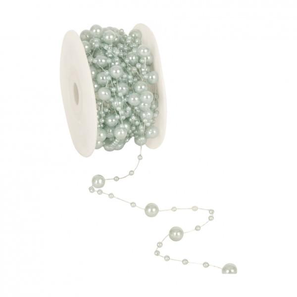 Partytischdecke.de | Perlenband 8 mm x 10 m mint 1 Rolle