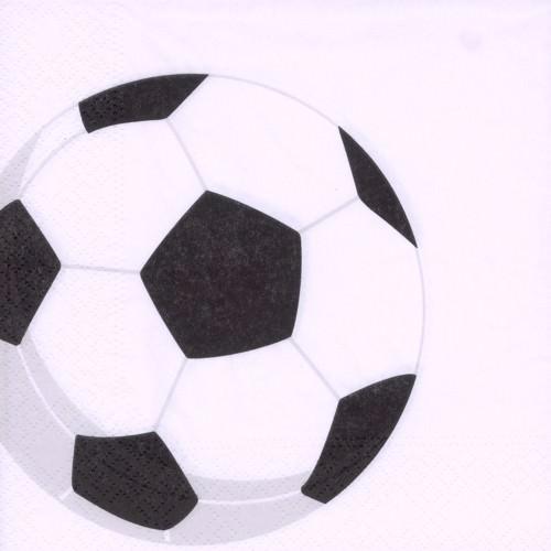 Partytischdecke.de | Serviette Papstar 33x33 Soccer 50er Pack