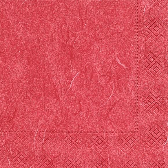 Servietten 33x33 Pure red 20 Stück