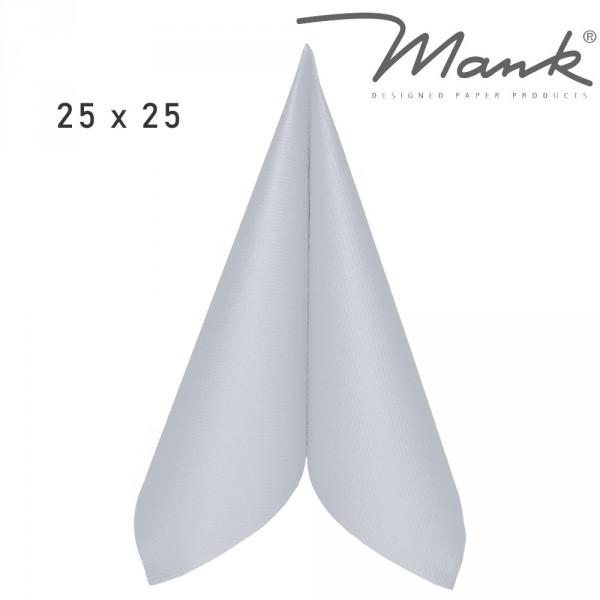 Partytischdecke.de | Serviette Mank Linclass 25x25 perlgrau 50 Stück