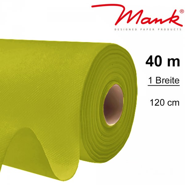 Partytischdecke.de | Tischdecke Mank Linclass 1,20 x 40 m kiwi