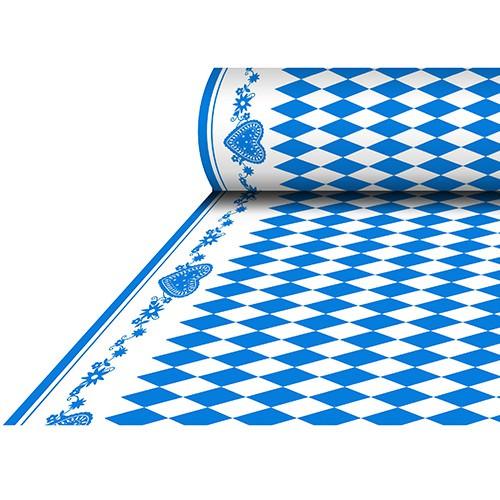 Partytischdecke.de | Tischdecke Airlaid 1,18 x 25 m Bavaria blau