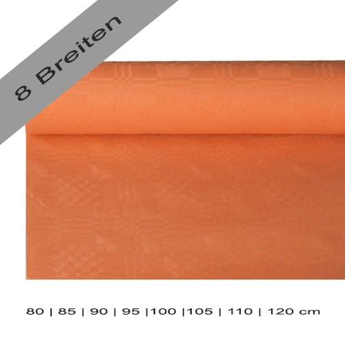 Partytischdecke.de | Papiertischdecke Damastprägung 8 lfm terracotta