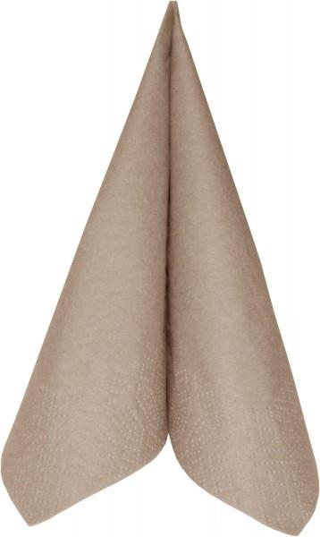 Partytischdecke.de | Duni Serviette Tissue 33x33 1/4 Falz greige 250er