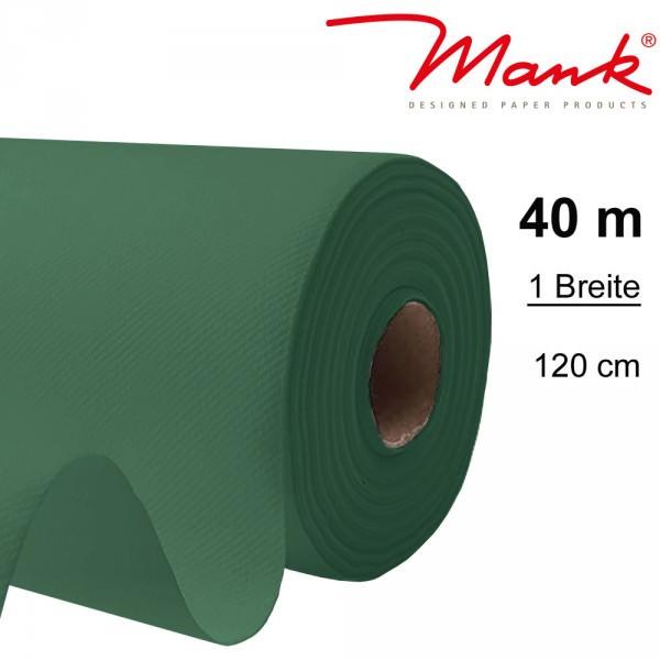 Partytischdecke.de | Tischdecke Mank Linclass 1,20 x 40 m dunkelgrün