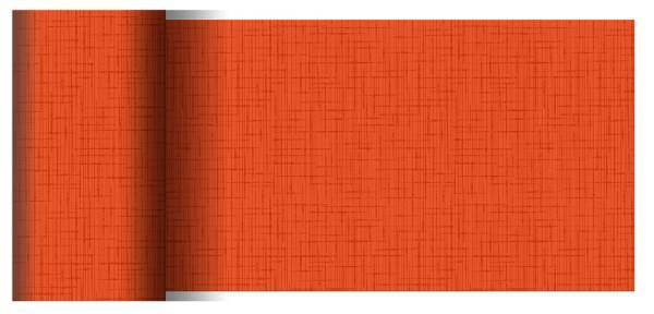 Partytischdecke.de | Tischläufer 15 cm x 20 m Dunicel Linnea mandarin
