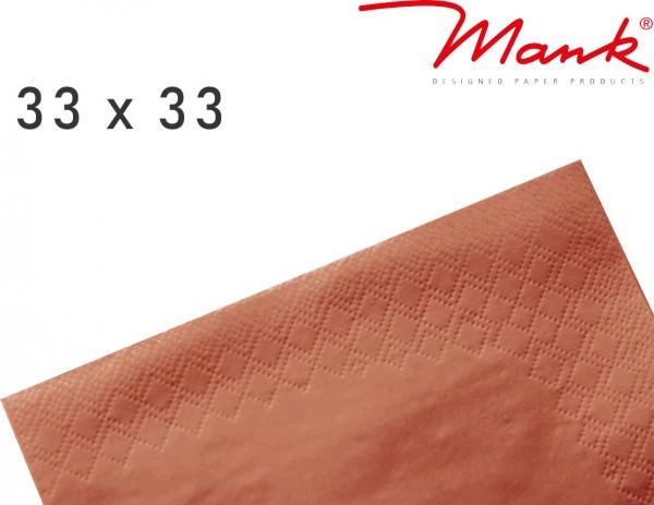 Partytischdecke.de | Serviette Mank 33x33 Tissue terracotta