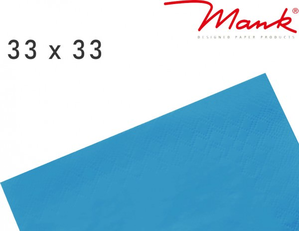 Partytischdecke.de | Serviette Mank 33x33 Tissue aquablau