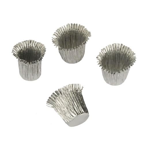 Partytischdecke.de | 18 Stück Kerzenhülsen Ø 1,9 cm 2,7 cm silber